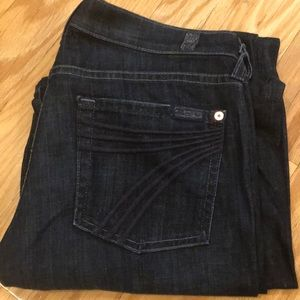 7 For All Mankind size 27 flare leg denim